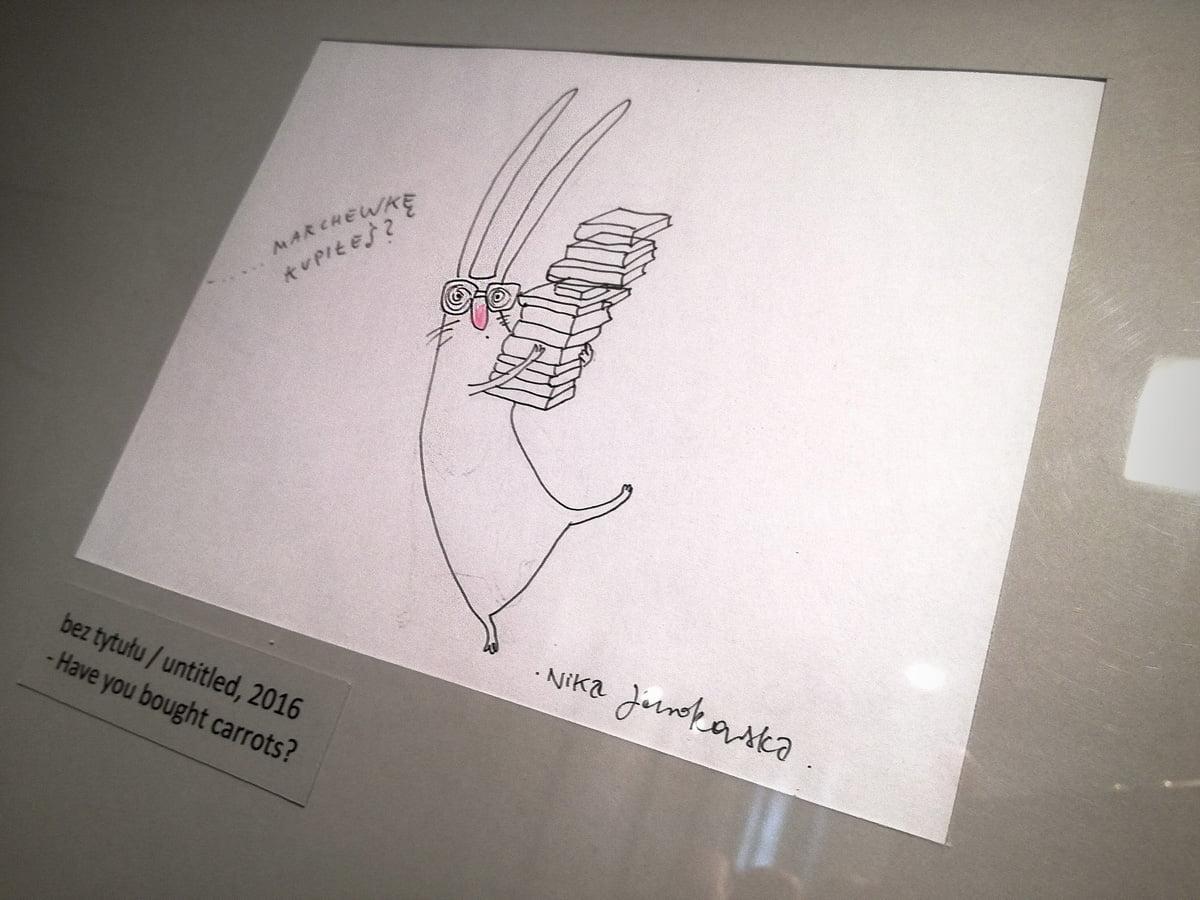 Zajac szary obywatel - Muzeum Karykatury 01