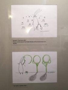 Zajac szary obywatel 02 - Muzeum Karykatury