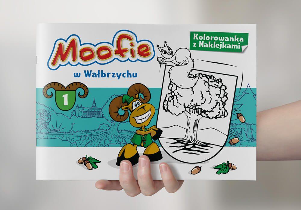 Moofie w Wałbrzychu - kolorowanka