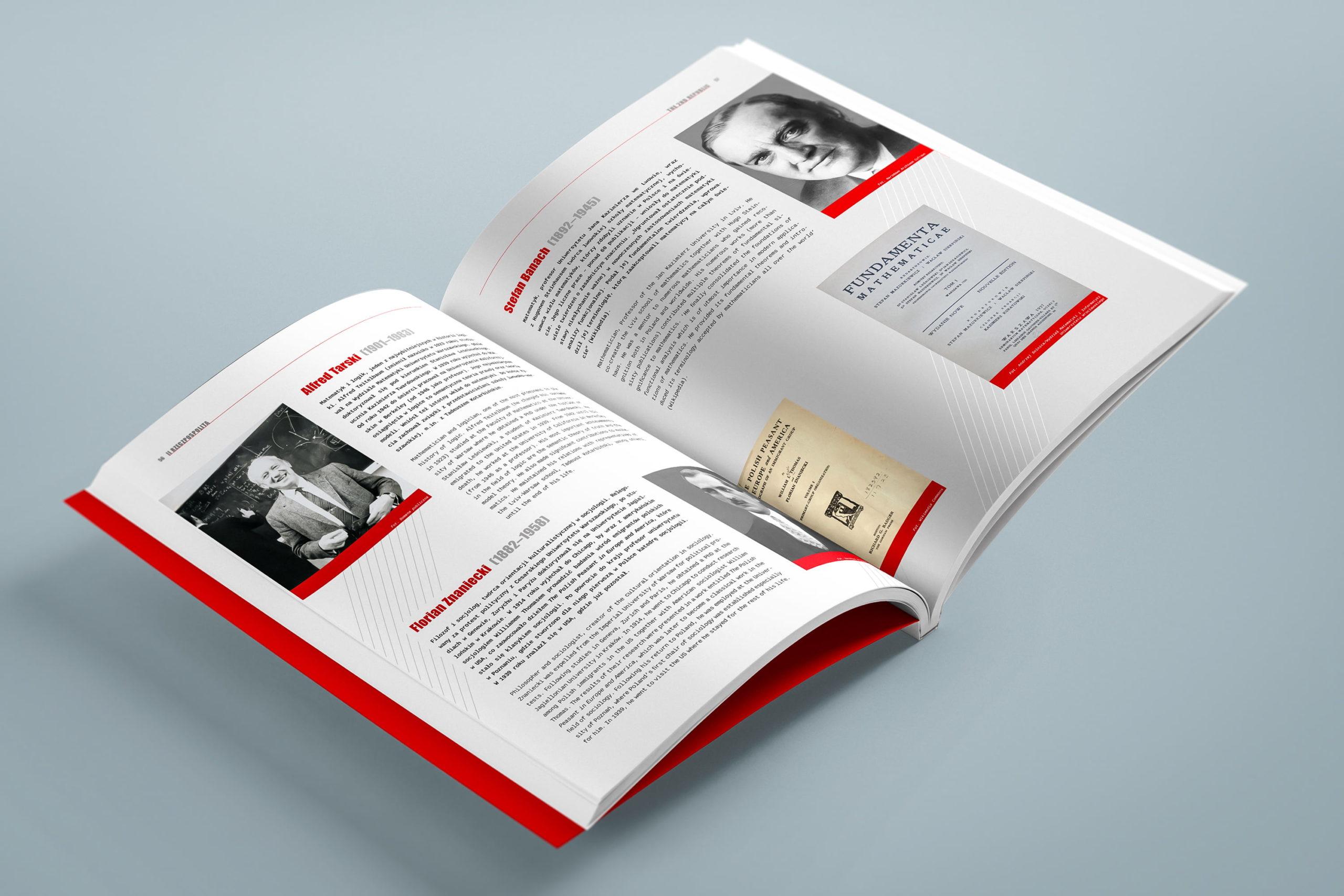 Projekt książki towarzyszącej wystawie Polska - światu 08