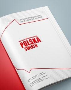 Projekt książki towarzyszącej wystawie Polska - światu 02