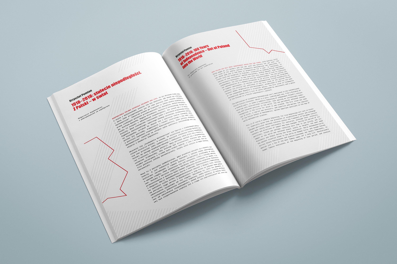 Projekt książki towarzyszącej wystawie Polska - światu 04