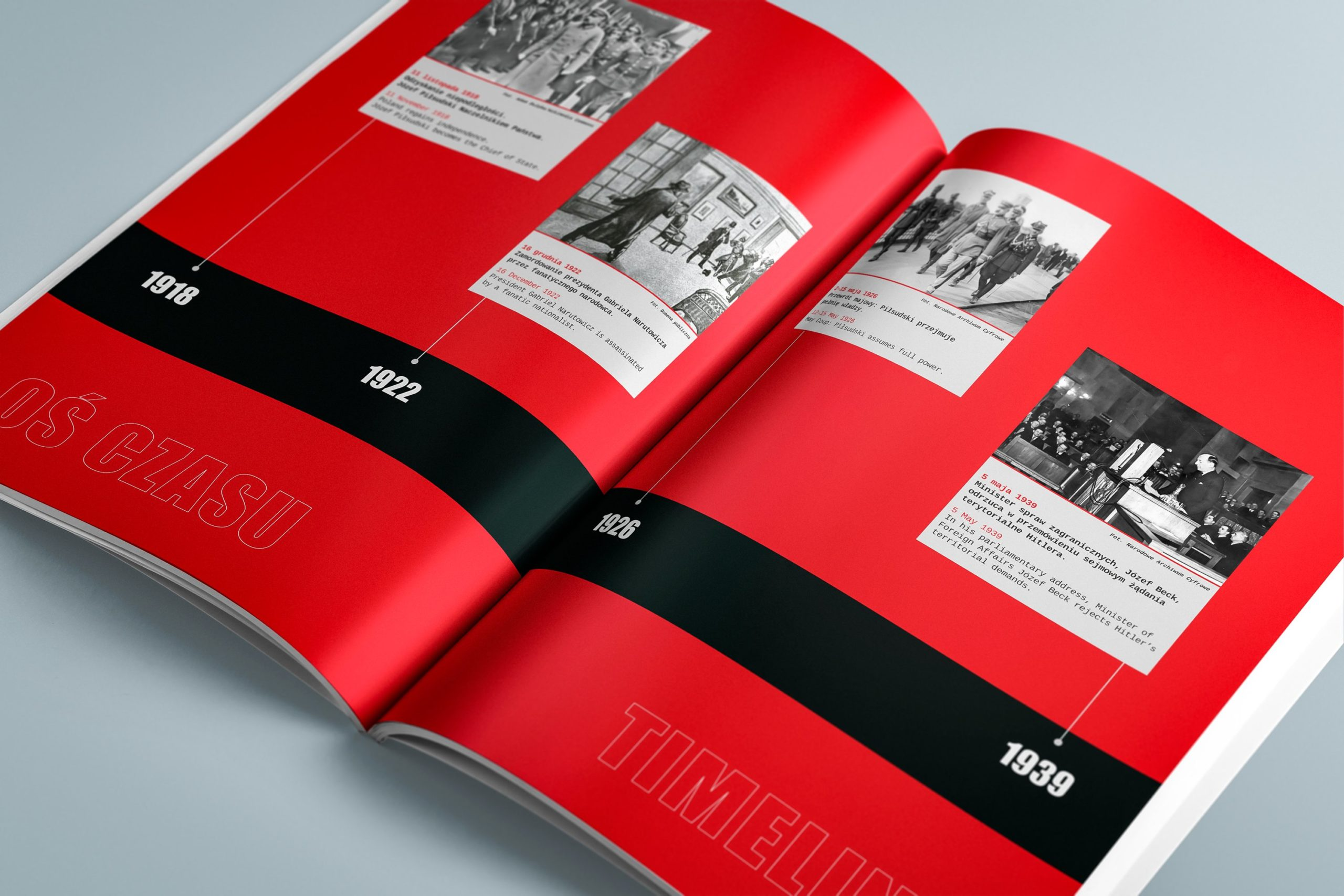 Projekt książki towarzyszącej wystawie Polska - światu 06