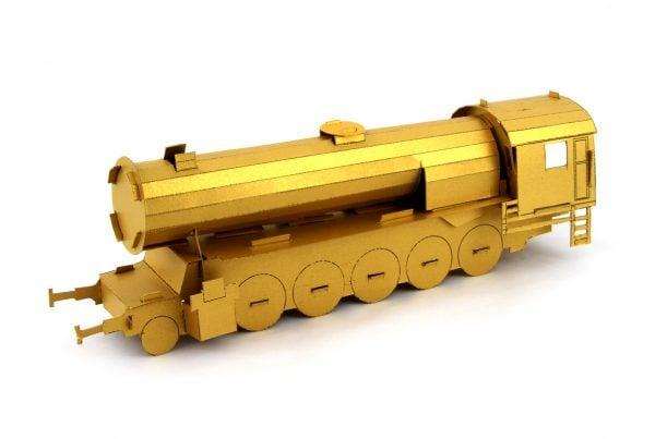 Złoty pociąg - papierowy model lokomotywy